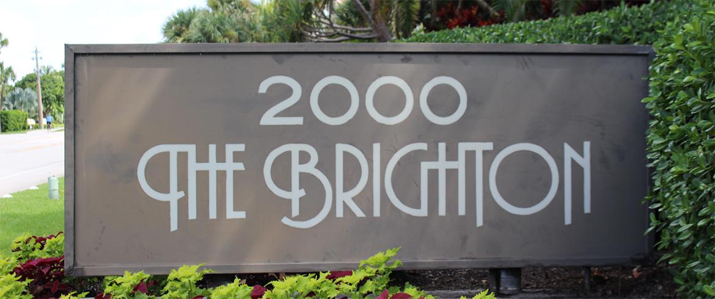 The Brighton Condominium Sign